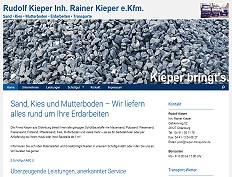 Rudolf Kieper - Sand - Kies - Mutterboden - Erdarbeiten - Transporte