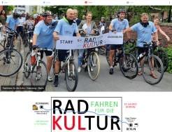 Radfahren für die Kultur